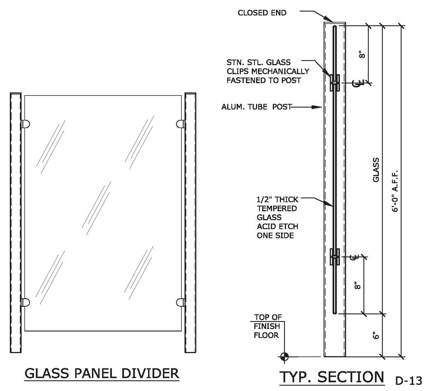Glass Panel Divider Details