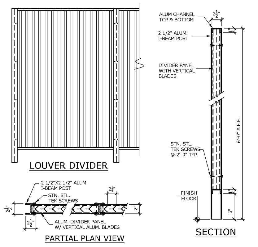 Louver Divider Details S Amp S Manufacturing